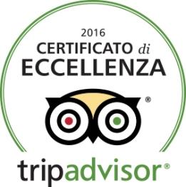 Certificato Eccellenza 2016 TripAdvisor